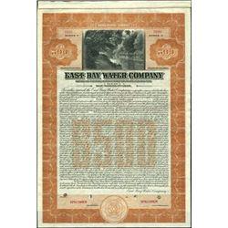 East Bay Water Company Bond,