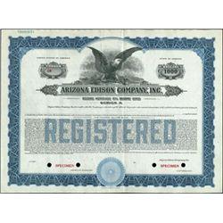 Arizona Edison Company Inc. Bond Specimens (7),