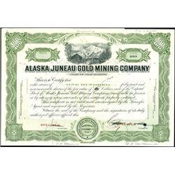Alaska Juneau Gold Mining Company Production File