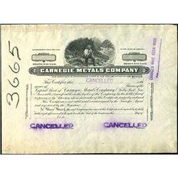 Carnegie Metals Company Proof.