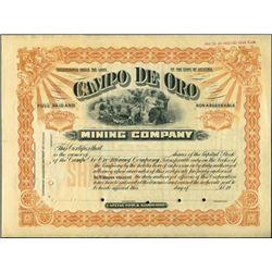 Campo De Oro Mining Company,