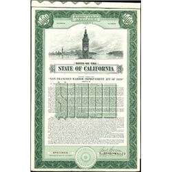 Bond of the State of California Pair