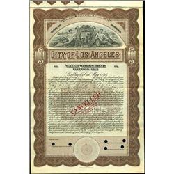 City of Los Angeles Bonds,
