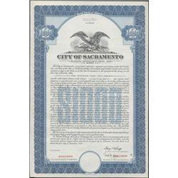 City of Sacarmento Bond Specimens (4),