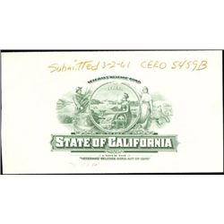 State of California Bond and Proof Vignette,
