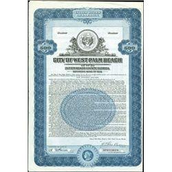 West Palm Beach and Sanford City Bond Specimens (