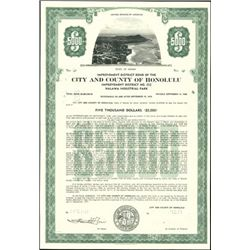City and County of Honolulu Bonds