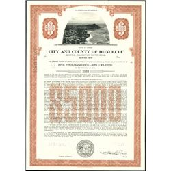 City and County of Honolulu Bonds, a 2nd Duplicat