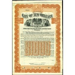 City of New Orleans Bond,