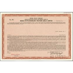 South Africa Mining ADR's Stock Certificates,