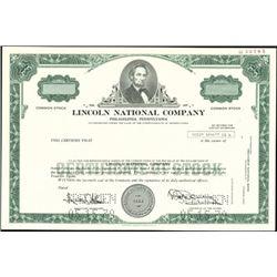 Lincoln National Company Stock Specimens (4),