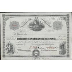 The Home Insurance Company Specimen Stock,
