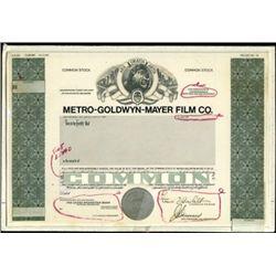 "Metro-Goldwyn-Mayer Film Co. ""MGM"" Production Fil"