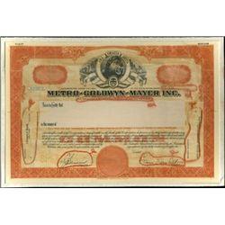 "Metro-Goldwyn-Mayer, Inc. ""MGM"" Production File,"