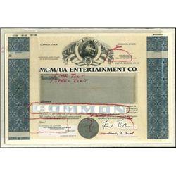 MGM/UA Enterainment Co. Production File,