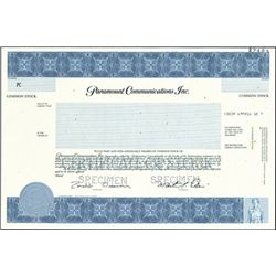 Paramount Communications, Inc.