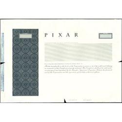 Pixar Stock Certificate Proof,