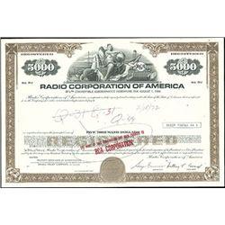 Radio Corporation of America Registered Bond,