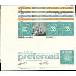 RCA Corporation Specimen Stock group