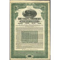 The Salina Northern Railroad Company Bond,