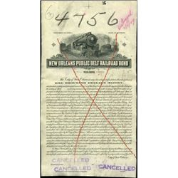 New Orleans Public Belt Railroad Proof Bond,