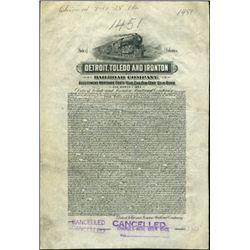 Detroit, Toledo and Ironton Railroad Co. $1000 Bo