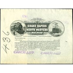 Grand Rapids and North Western Railroad Proof.