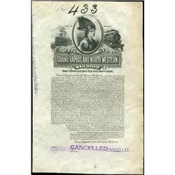 MI. Grand Rapids and North Western Railroad Proof