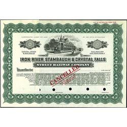 Iron River, Stambaugh & Crystal Falls Street Rail