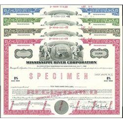 Mississippi River Corporation Bond Specimens