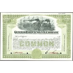 General Railway Signal Company Production File,