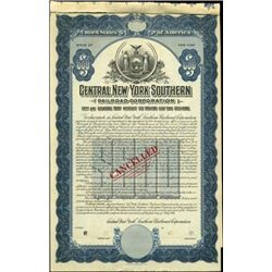 Central New York Southern Railroad Corp. Bond,