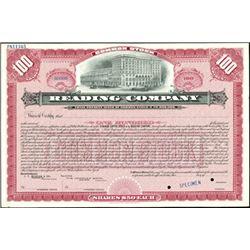 Reading Company Stock Certificate Specimens
