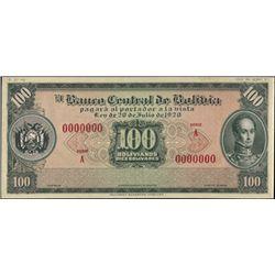 Bolivia. El Banco Central De Bolivia.