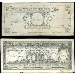 Bolivia. Production File for El Banco Central De