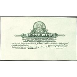 Barranquilla, Colombia. Banco Dugand Proofs.