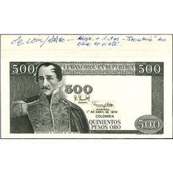 Colombia. El Banco De La Republica.