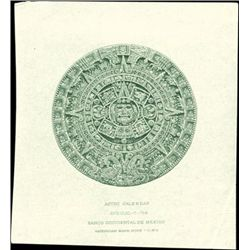 Mexico. Aztec Calender Proof Vignettes in 6 Diffe