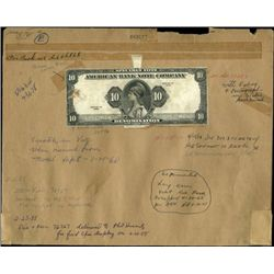 U.S. ABN Specimen Sample Note Proof On Archival F