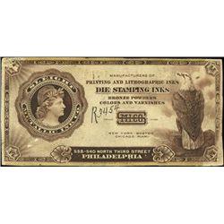 U.S. Sleigh Metallic Ink Co. Advertising Notes.