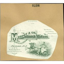 U.S. Advertising Label Proofs from Letterheads, A