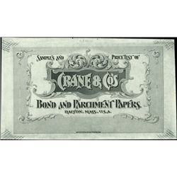 U.S. Crane & Co. Advertising Label Proofs.