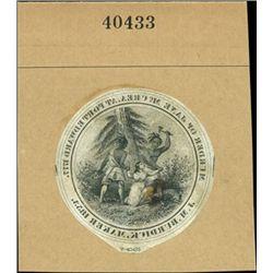 "U.S. ""Murder of Jane McCrea"" Advertising Label"