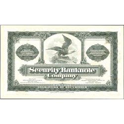 U.S. Security Bank Note Company Advertising Card