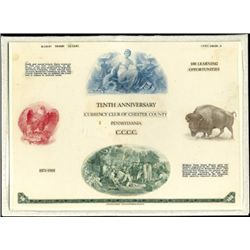 U.S. 1981 10th Anniversary Currency Club of Chest