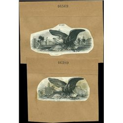 U.S. Early Eagle Vignettes Used on a Variety of D