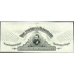 U.S. The American Telegraph Cable Co. Proof Vigne