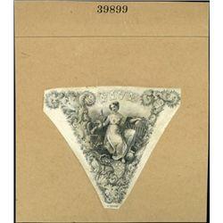 """U.S. $5 """"V"""" Roman Numeral Vignettes With Allegori"""