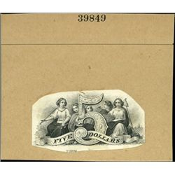 U.S. $5 Numeral Vignette Inter-twined With People