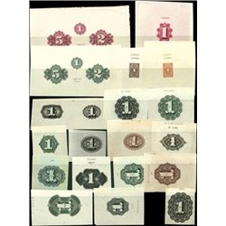 """U.S. Numeral """"1"""" Counters Used on Banknotes, Stoc"""